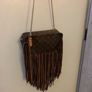 Louis Vuitton repurposed authentic pre-owned bag.